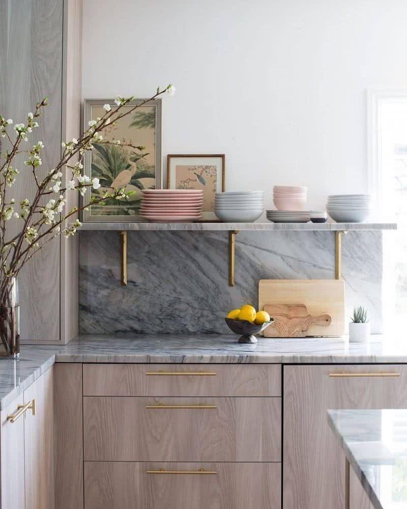Marble kitchen Cabinet