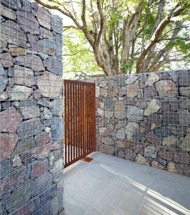 Original corten steel garden gates