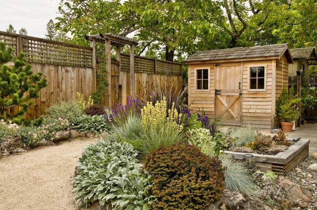 Rustic Shed with Matching Fence