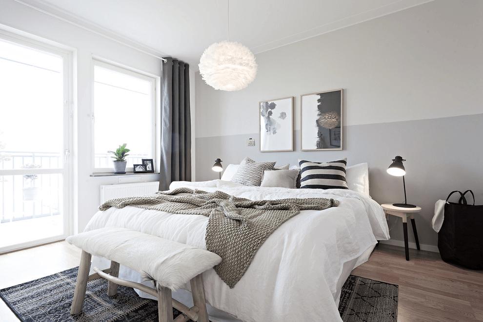 Scandinavian style in the interior of the bedroom