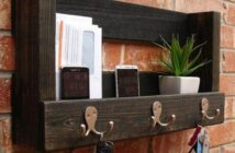 Shelf for keys, gadgets and mail