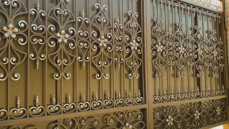 Sliding forged gates
