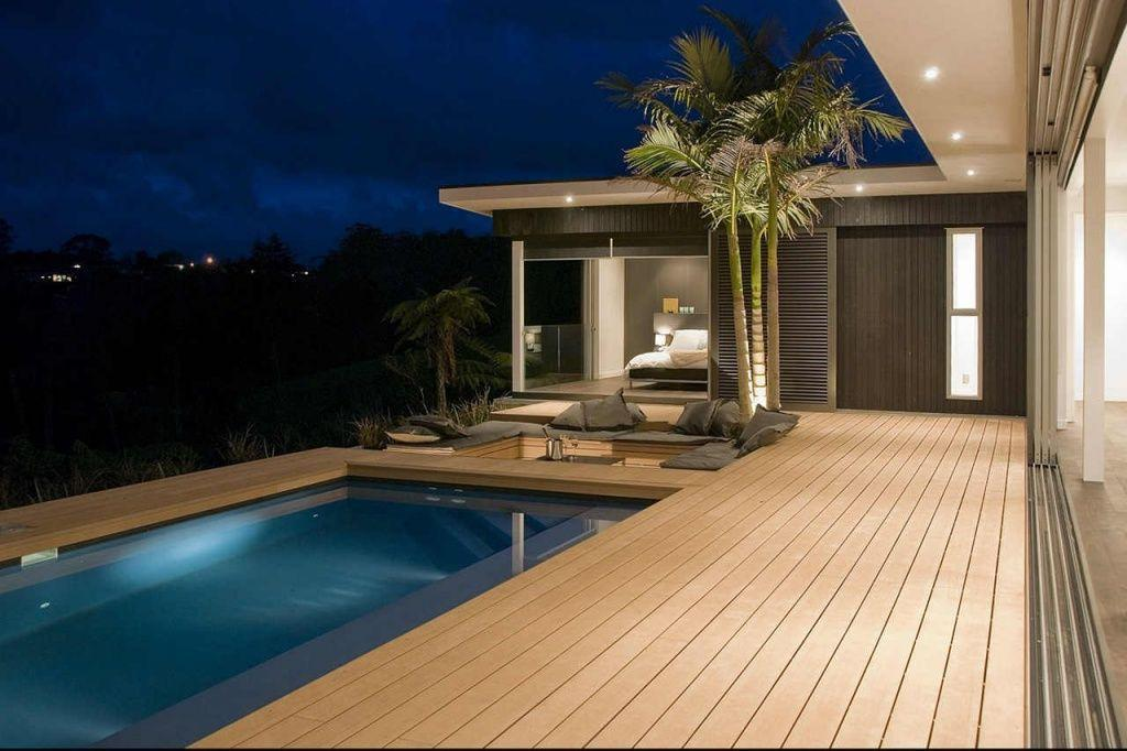 Thermo-treated wood terrace