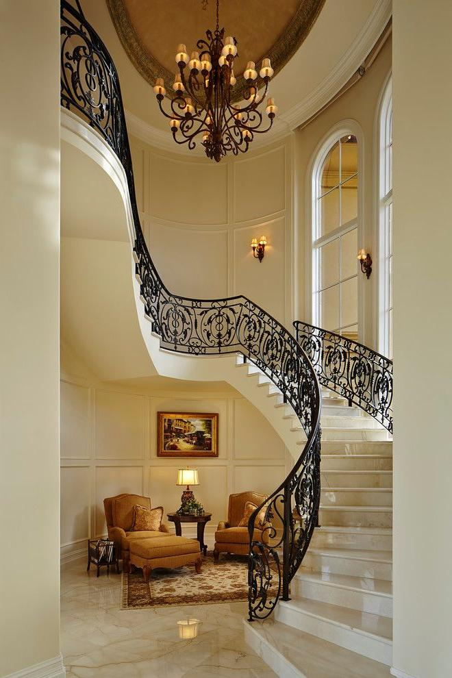 Wrought iron railings perfectly emphasize the Mediterranean style
