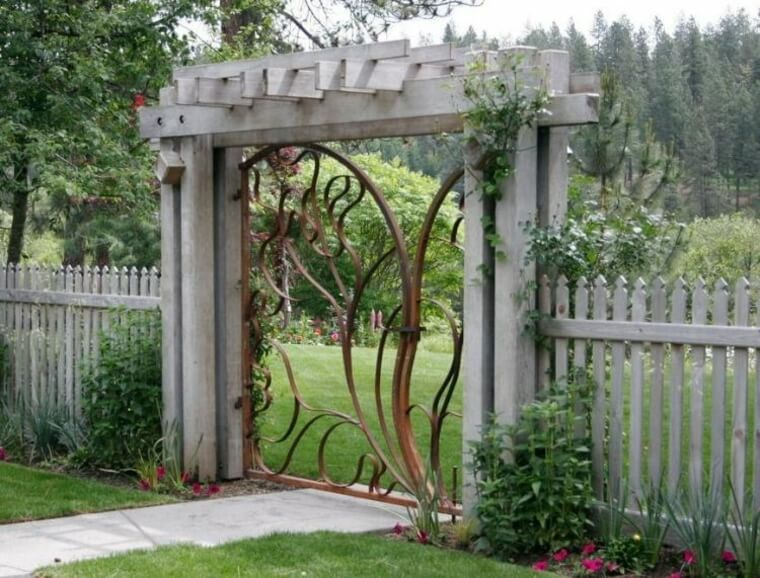 Wrought or forged door designs
