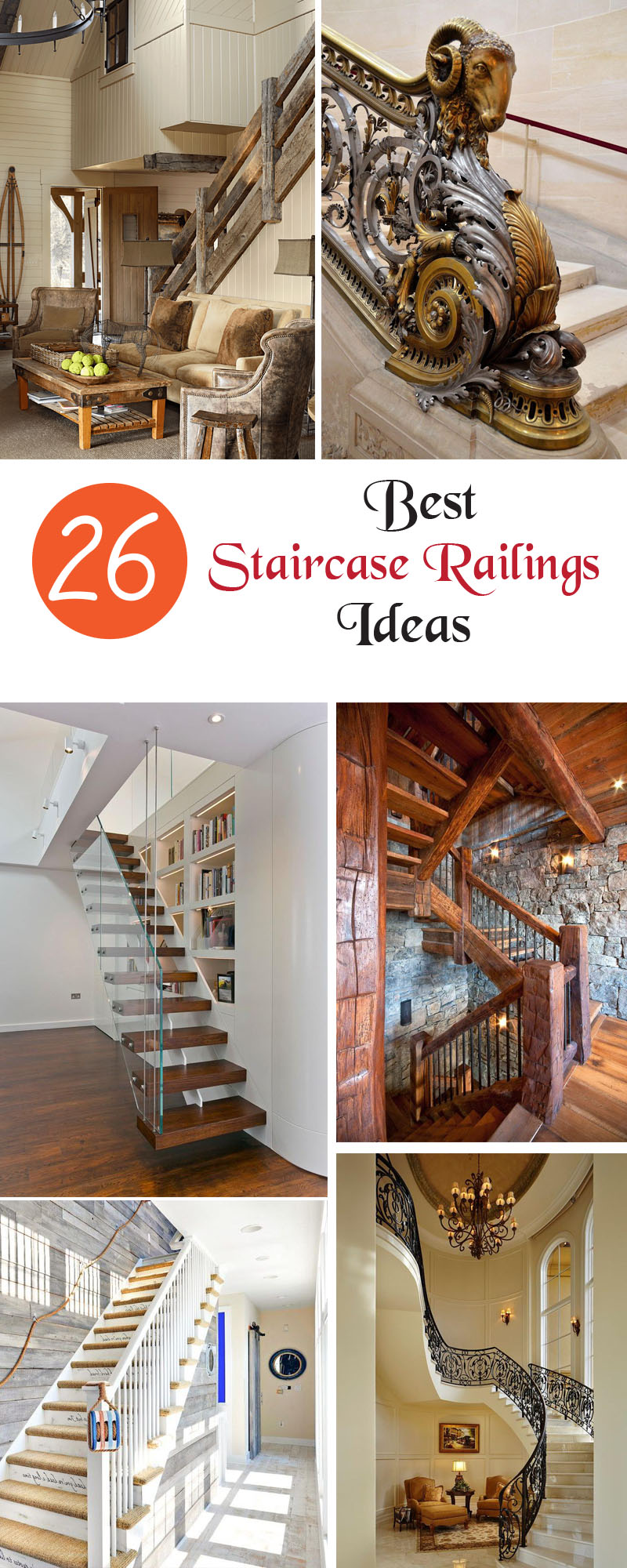 best staircase railings ideas