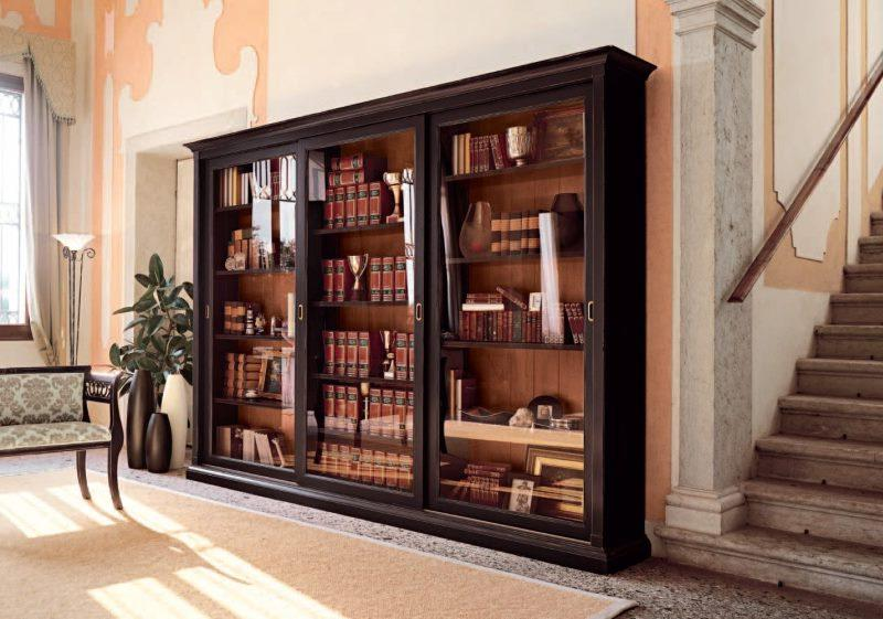 bookcase of a compartment