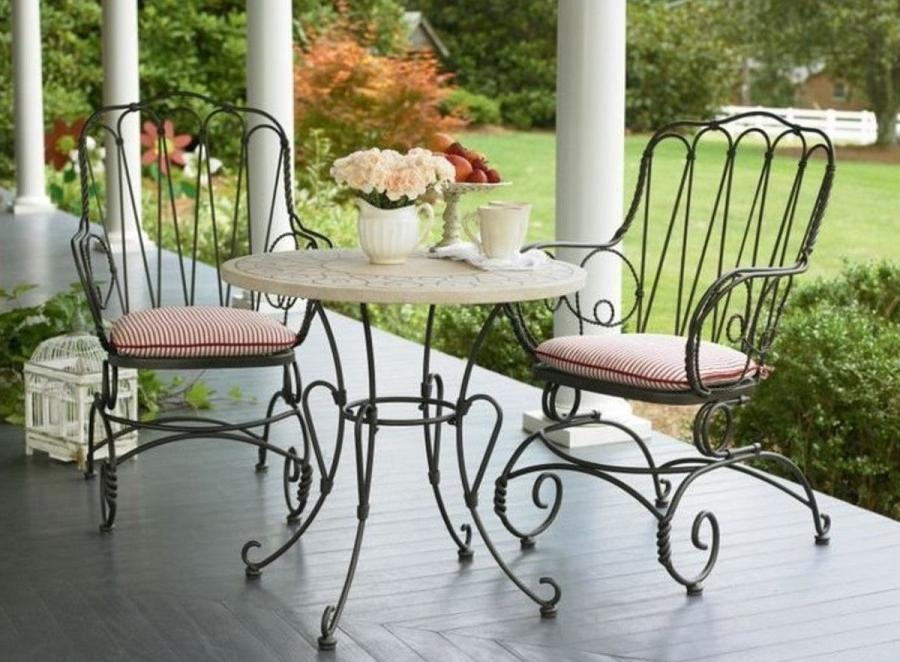 wrought iron dining table for outdoor