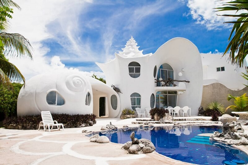 Amazing Shell House in Mexico