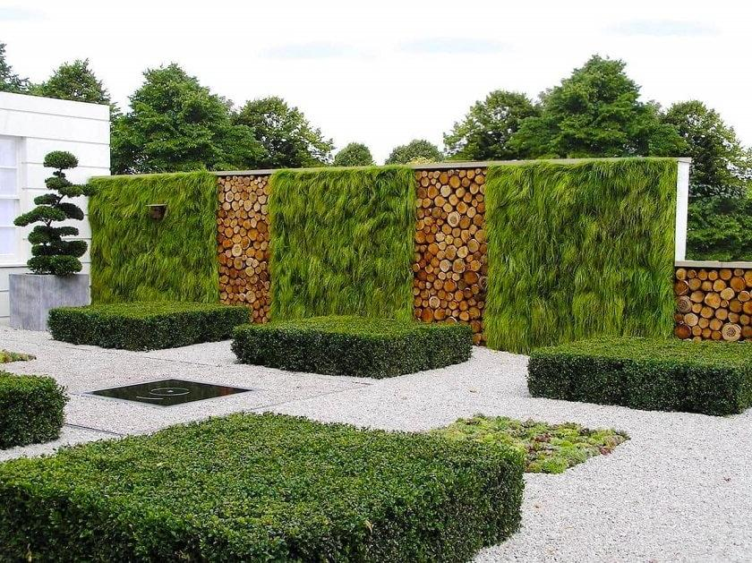 An interesting option for vertical gardening fencing styles