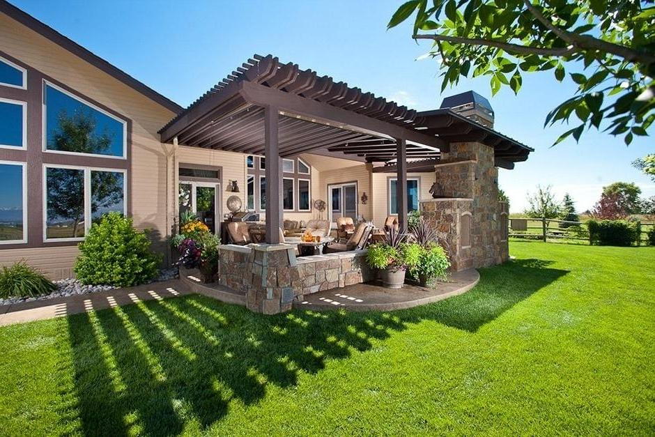 Beautiful open arbor attached to the house