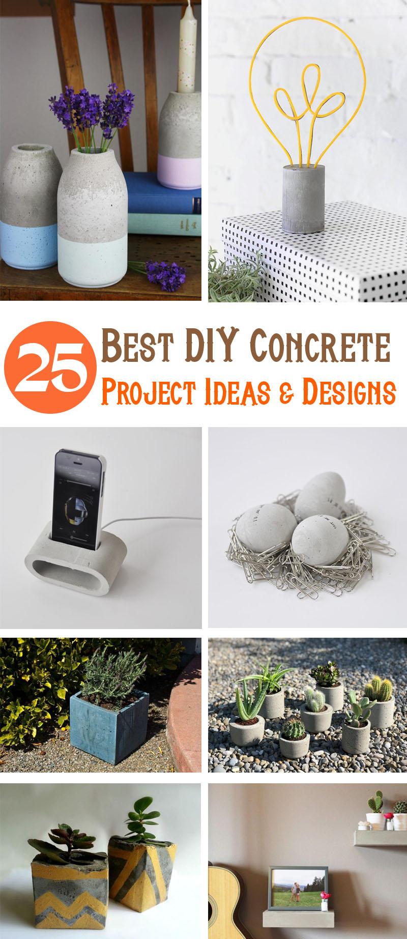 Best DIY concrete Project Ideas