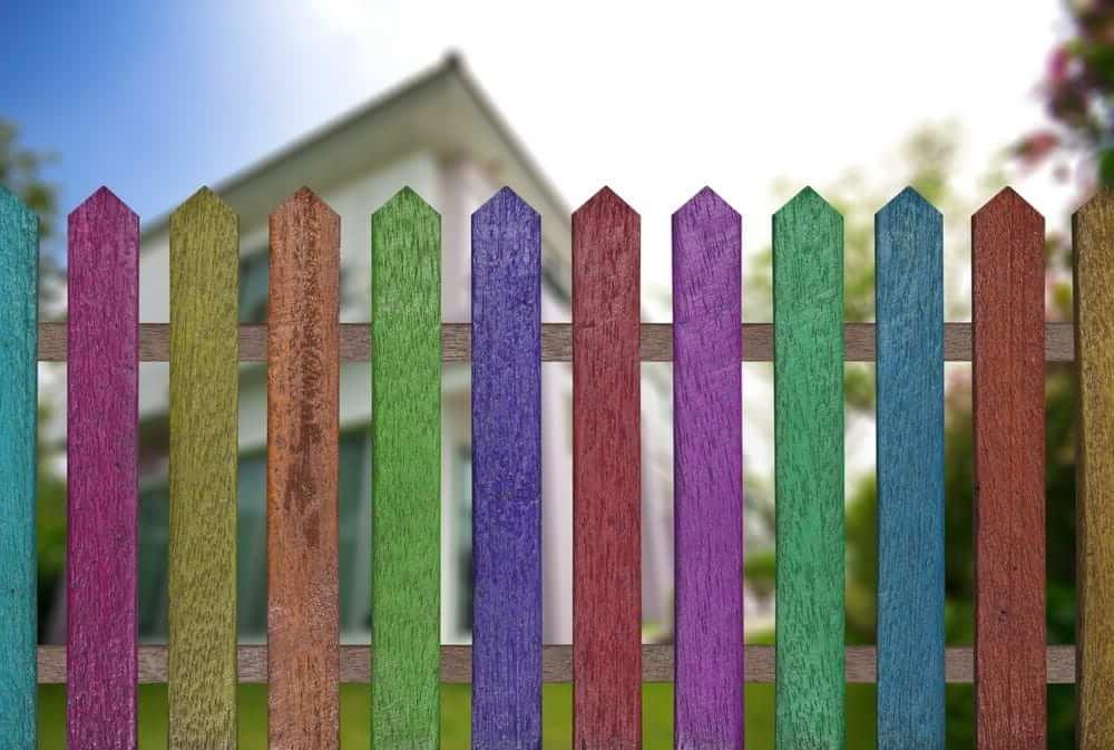 Bright fencing styles which is with all the colors of the rainbow