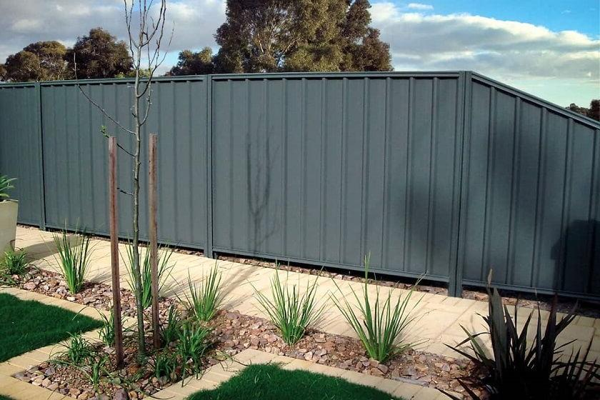 Clear geometry in landscape design fencing styles