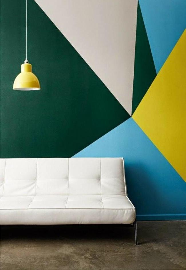 Color geometry on the wall