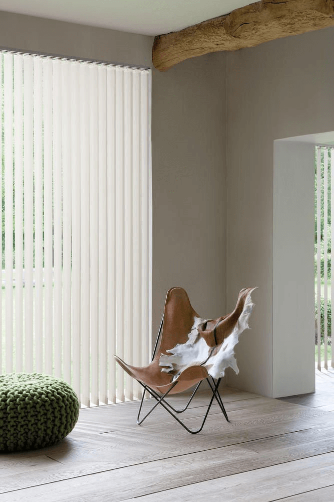Minimalistic Fabric Vertical Blinds