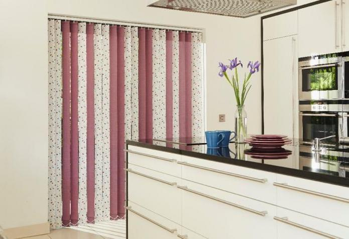 Multi-colored Fabric Vertical Blinds