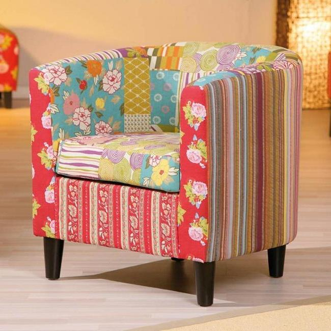 Patchwork style chair upholstery restoration
