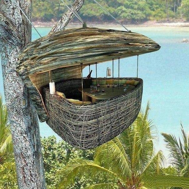 Restaurant on the tree. Koh Kood island in Thailand