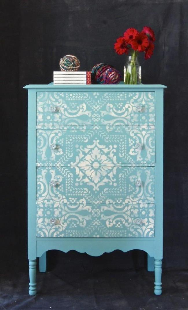 Stencil Furniture Decoration