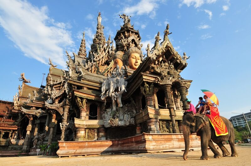 Temple of Truth in Pattaya, Thailand