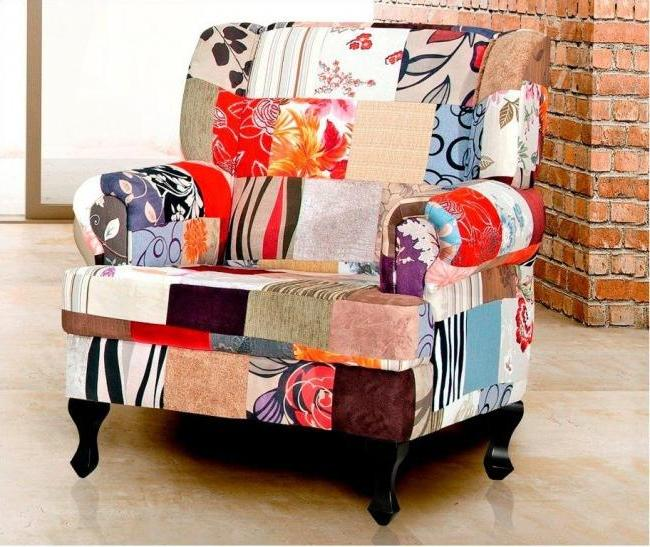 The patchwork will give your upholstered furniture a unique look.