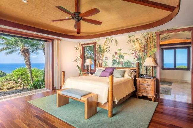 Traditional bedroom with a touch of exotic