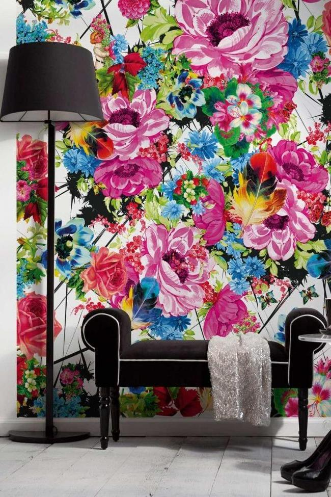 Wall painting gives the room a bright personality