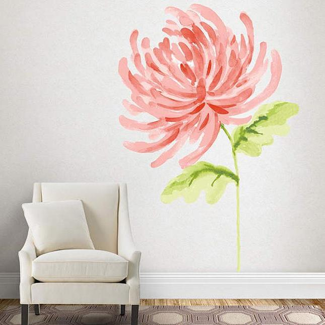 Wall painting in watercolor