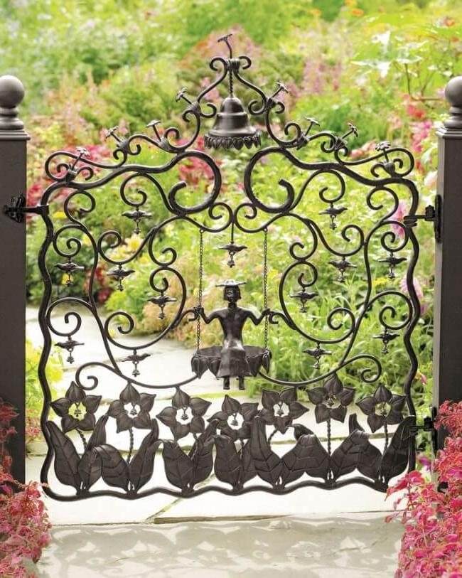 Welded and forged metal fencing styles
