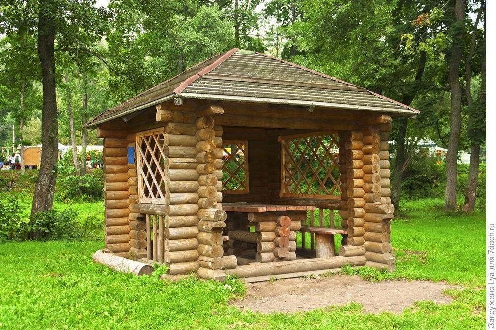 backyard wooden gazebo