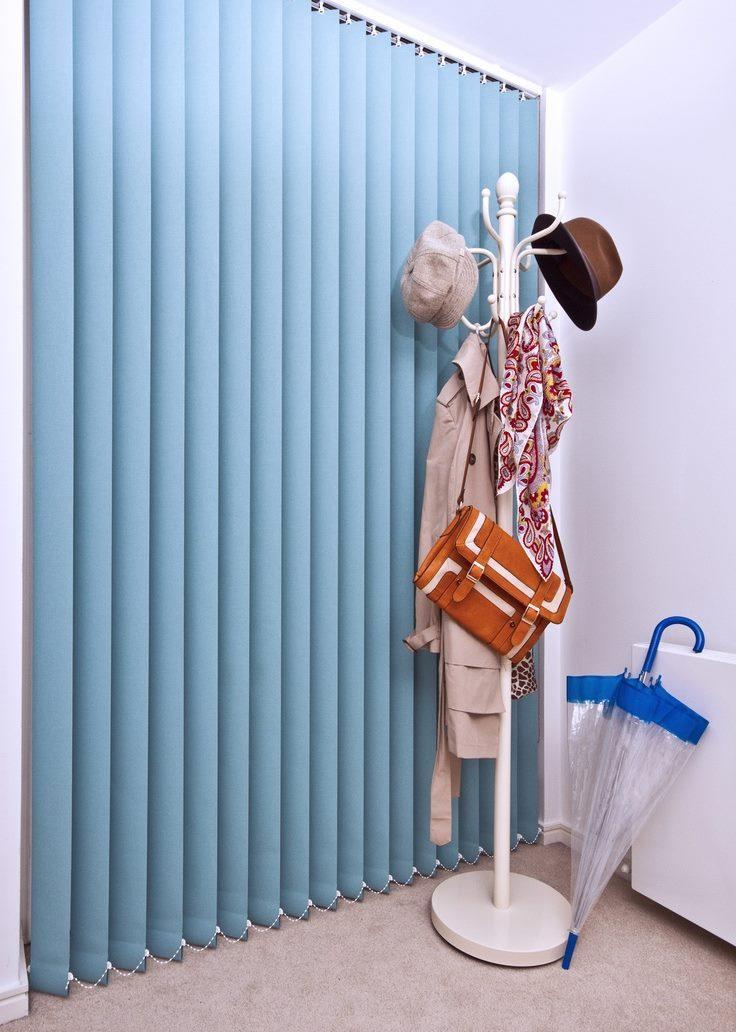 blue jacquard blinds