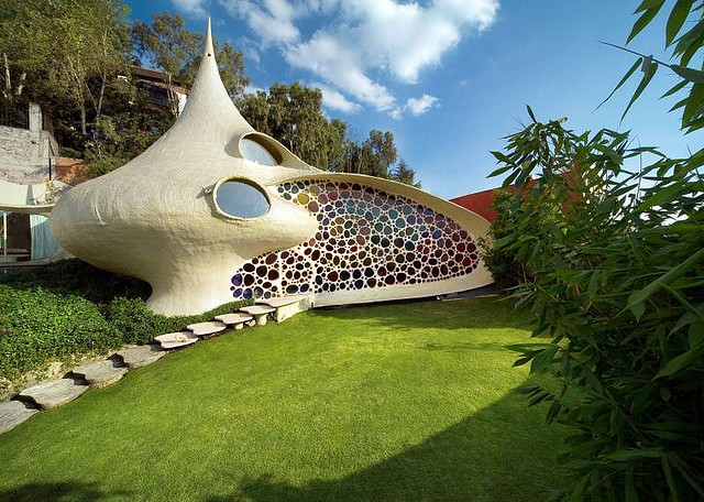 house in a clam shell