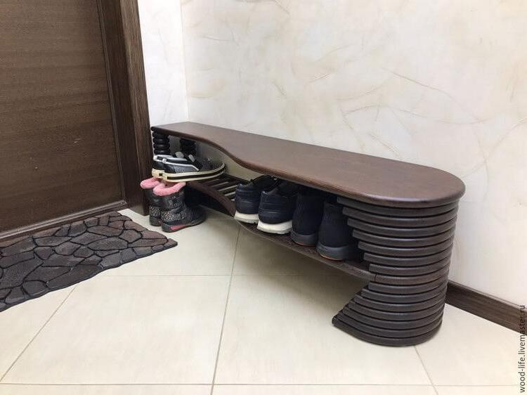 small entryway bench
