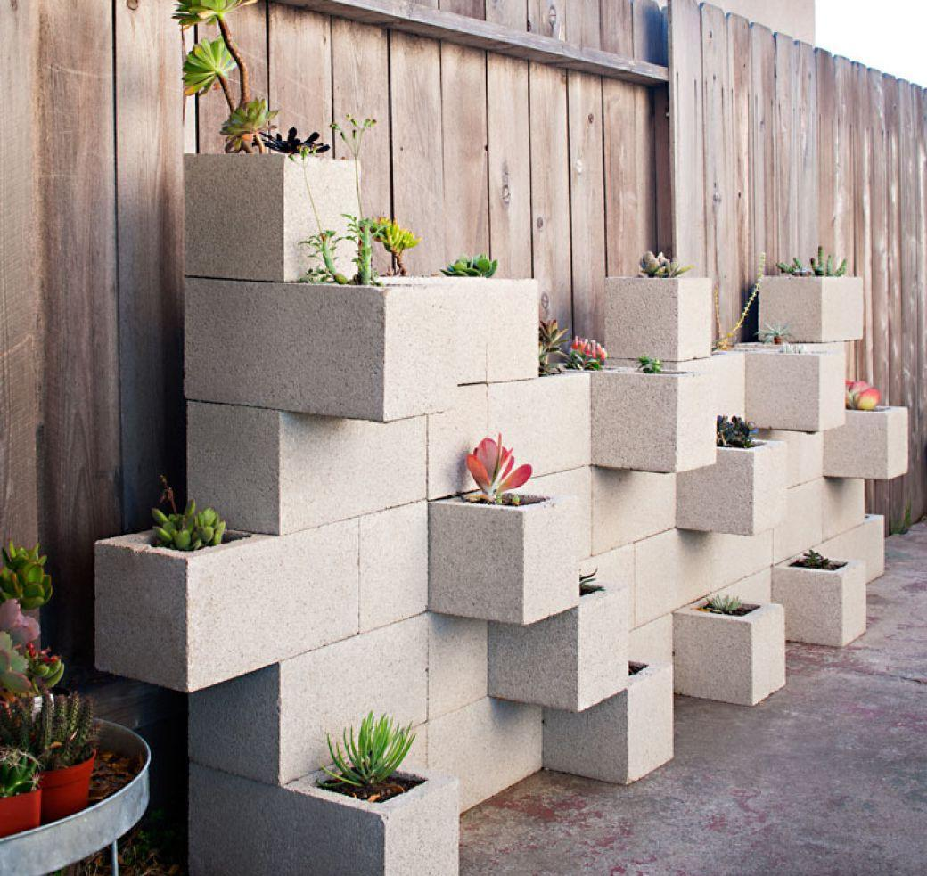 unusual composition with concrete cubes