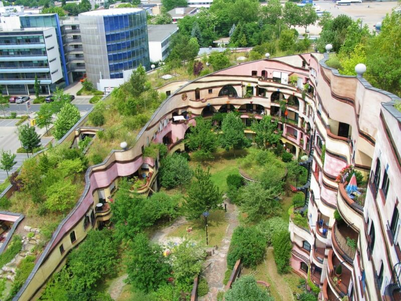unusual house Forest spiral in Germany