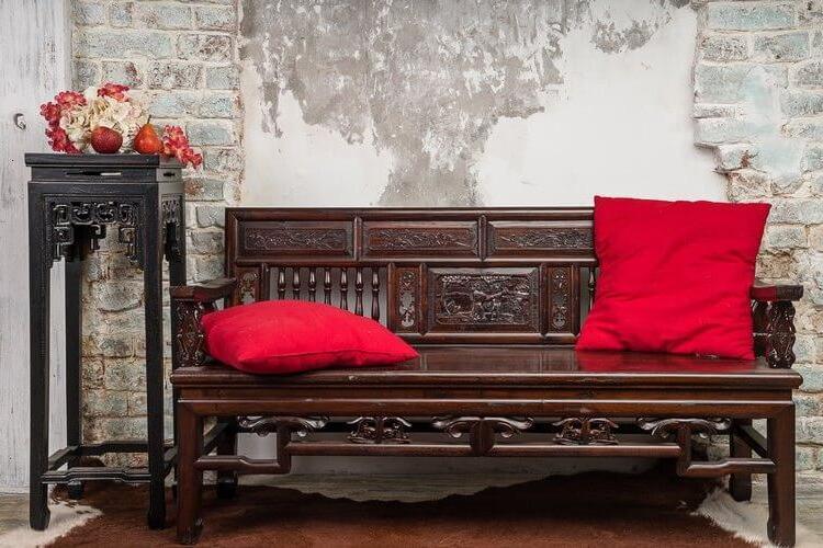 vintage hallway benches