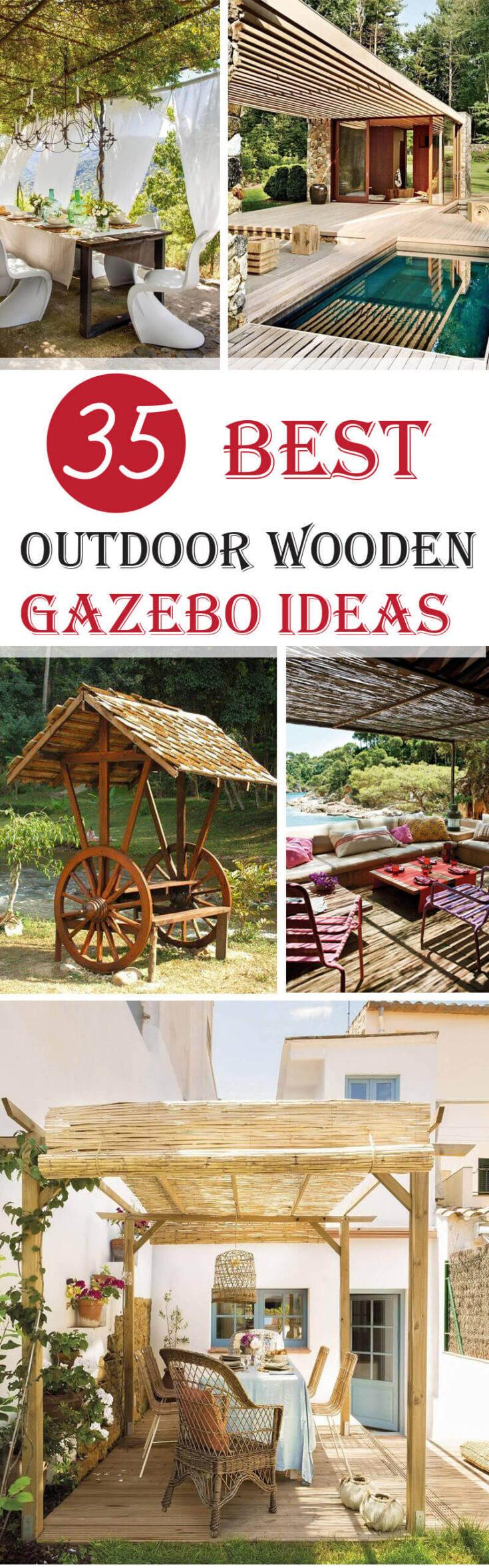 best outdoor wooden gazebos