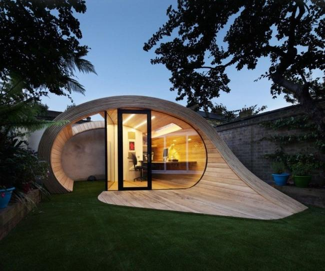 A frame house can have completely different shapes.