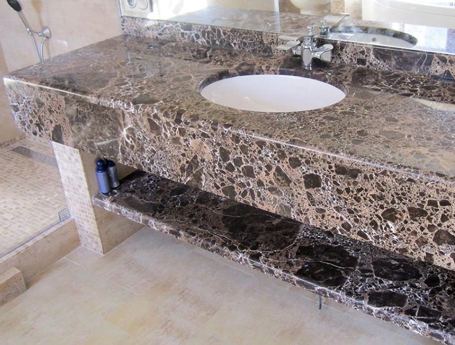 Acrylic stone outwardly is not inferior to natural, but has a wider range of shades