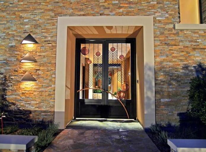Art Deco wrought iron door