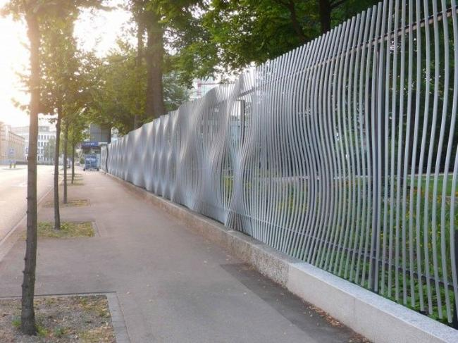 Bump effect fence
