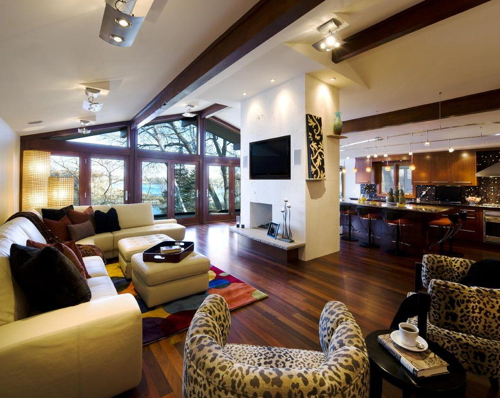Ceiling spots are irreplaceable not only as an integral part of the decor, but are also easy to use