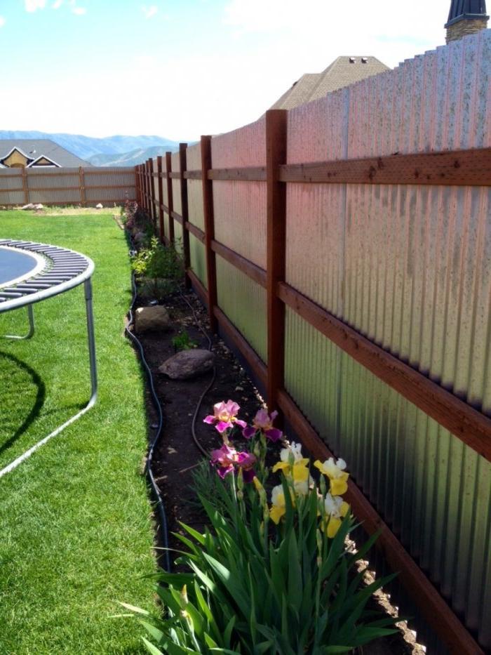 DIY Affordable Metal Fence