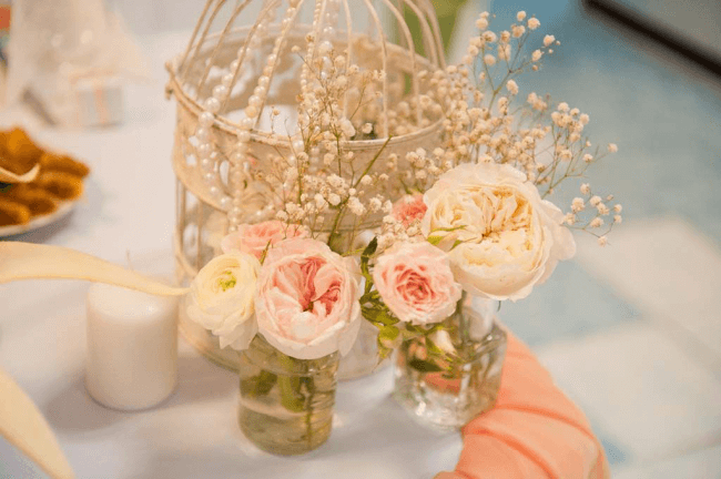 Decorating with flowers is one of the best ways to create a romantic atmosphere for a wedding celebration
