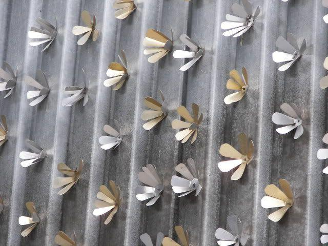 Fine decor of a fence made of corrugated board