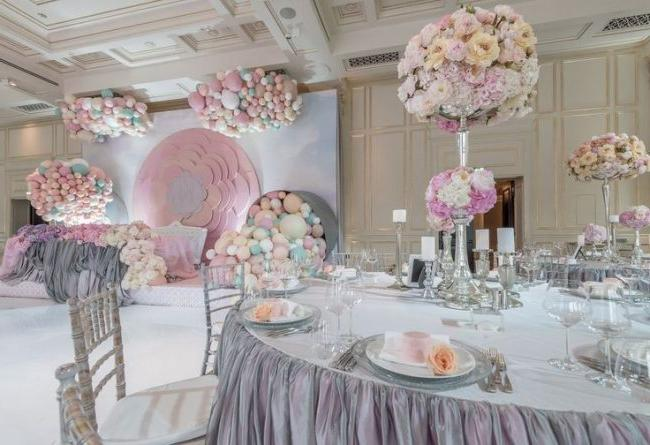 Guerlain wedding in pastel colors