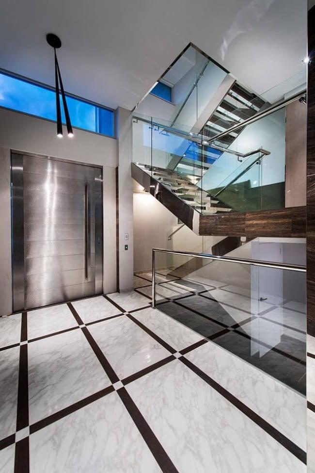 High-tech stainless steel door