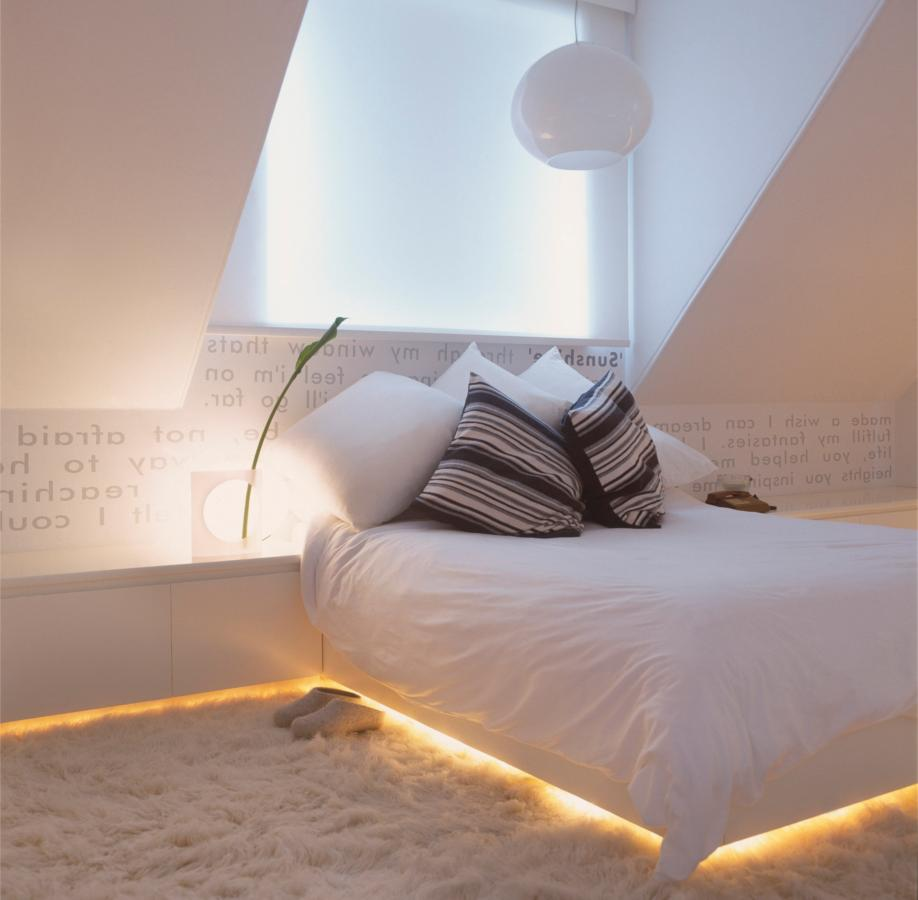 Lighting in a small room with low ceilings