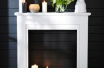 Modern Monochrome Faux Fireplace